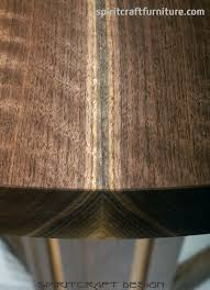 round solid black walnut table top for restaurant cafe tables from spiritcraft furniture dundee illinois