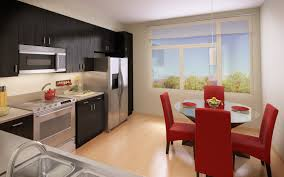 Studio Apartment Kitchen Apartment Futuristic Long Apartment Kitchen With White