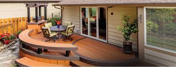 backyard deck design. AZEK Cypress With Dark Hickory Accent Backyard Deck Design S