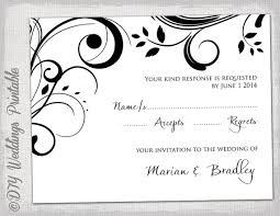 rsvp card template free printable wedding rsvp card templates vastuuonminun