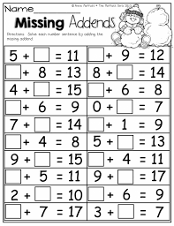 Winter Addition Worksheets First For All Download And Math 2nd Gr ...