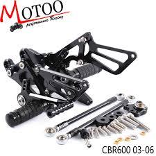 Motoo <b>Full CNC</b> Aluminum <b>Motorcycle Adjustable</b> Rearsets Rear ...