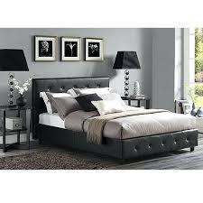 leather bed frame faux leather upholstered platform bed brown leather bed frame king size