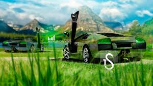 lamborghini murcielago two crystal nature cars