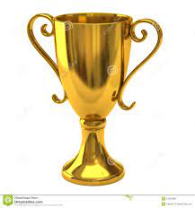 Gold cup of the winner stock photo ...