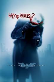 the dark knight why so serious poster