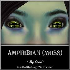Second Life Marketplace - ~*By Snow*~ Amphibian Eyes (Moss) w/MESH