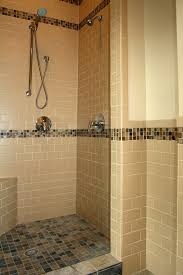showers with tile walls. slate shower floor with subway tile walls showers n