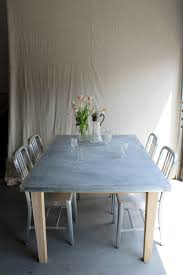 Zinc Dining Table French Zinc Top Farm Table Reclaimed Cedar Pine Wood Barn Rustic