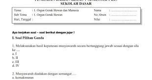 Pelestarian kekayaan sumber daya alam indonesia, dan subtema 4: Soal Penilaian Harian Kelas 5 Tema 1 Subtema 1 Dan Kunci Jawabannya Sekolahdasar Net