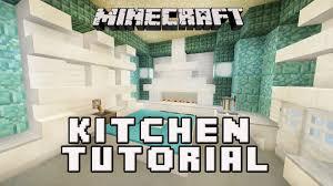how to make a kitchen in minecraft. Minecraft Tutorial: How To Make A Cool Kitchen Design (Coral House Build Part 6 In N