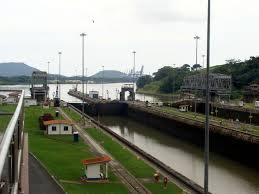 canal a century connecting two oceans and the world   canal south view of the miraflores locks in the direction towards the pacific ocean
