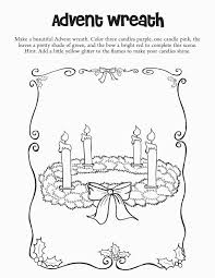 Advent Wreath Coloring Page Pages For Grig3 For Advent Coloring
