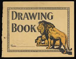 front cover of drawing book belonging to paul henning