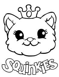 Small Picture Squinkies Cat Coloring Page H M Coloring Pages