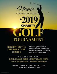 Charity Golf Tournament Flyer Template Sign Up Sheets Betting