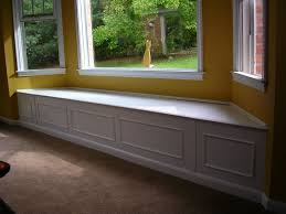 Living Room:Charming White Bay Window Seat Decor With Yellow Wall Color  Design Idea Charming