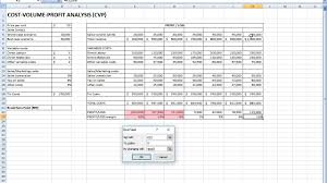 Cost Volume Profit Chart Excel Cost Volume Profit Analysis In Excel Easy Youtube