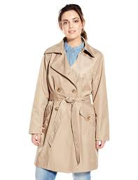 anne klein women s plus size classic double ted trench coat british khaki ag97172