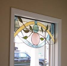 vinery glass stained glass valance window