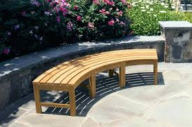 curved concrete bench cushions garden nice outdoor