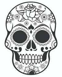 Small Picture Sugar Skull Coloring Page AZ Coloring Pages Quilt ideas