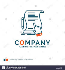 Logo Design Contract Template Contract Document Paper Sign Agreement Application Logo