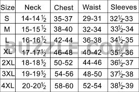 Dress Shirt Size Chart 54 Efficient Xxl Shirt Size Chart