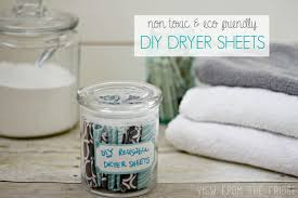 why use the toxic bought dryer sheets these diy homemade dryer sheets