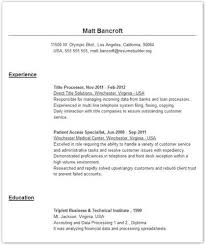 Here Is A Good Example Of A Resume Header