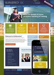 professional webtemplate iq university website template bootstrap design responsive