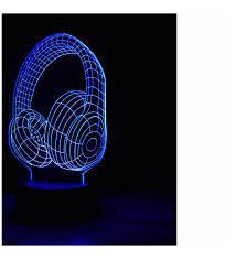 Kulaklık 3D Lamba BEYAZ
