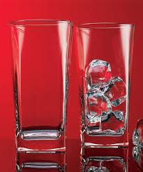 love this square highball drinking glass set of four