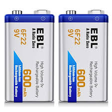 9v Battery Mah Chart Ebl 600mah 9 Volt Li Ion Rechargeable 9v Batteries Lithium