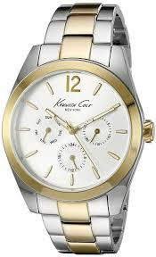 men s kenneth cole dress sport silver and gold watch 10029377