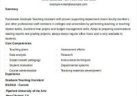 Teacher Aide Resume From Teaching Assistant Resume Template