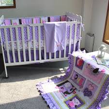 8 pieces purple embroidery 3d elephant owl baby bedding set quilt per bedskirt fitted blanket 100