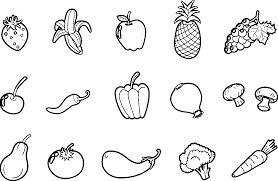 Pictures Of Fruits And Vegetables For Coloring : Kids Coloring ...