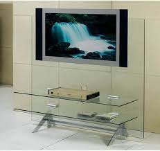 clear glass furniture. Plasma-TV-stand-in-clear-glass Clear Glass Furniture I
