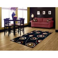 picture of modern contemporary evil eye peacock feather shape rug