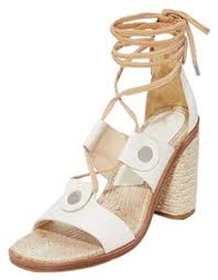Rag Bone White Eden Lace Up Block Sandals Size Eu 38 5 Approx Us 8 5 Regular M B 71 Off Retail