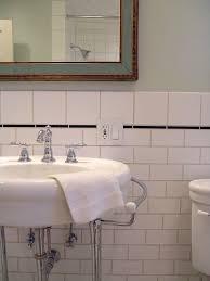 Best White Subway Tile Bathrooms Images On Pinterest Room