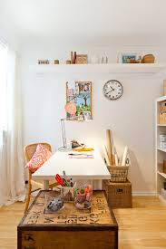 eclectic crafts room. Perth High End Room Home Office Eclectic With Wire Basket Glass Crafts O