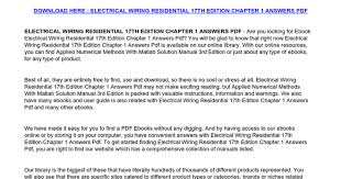 electrical wiring commercial 15th edition ewiring electrical wiring commercial 16th edition pdf at Electrical Wiring Commercial 15th Edition