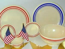 the little round table wow retro red stripe fiesta