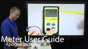 Apogee Light Meter Apogee Instruments Meter User Guide