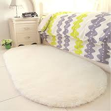 gwl soft creamy rugs bedroom bedside rugs fluffy area rug kids room mat anti slip nursery carpets home decor 2 6 x 5 3