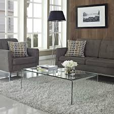 gray faux fabric sectional sofa floor lamp transpa glass coffee table decor ideas polyester syntetic rug
