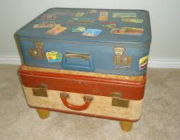 Suitcase Nightstand simple and easy diy stacked suitcase nightstand with low wooden 5510 by guidejewelry.us