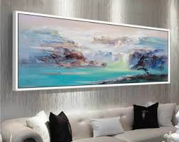 >extra large wall art etsy abstract oil painting contemporary art hand paint large art extra large wall art landscape oil painting blue painting large canvas art